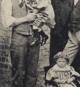 ADAM CHAPMAN HARRISON owner of Theatre Royal and his children. Photo 1886
