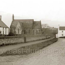 Hawthorn Village around 1900. The church of St Michael and All Angels is centre frame.