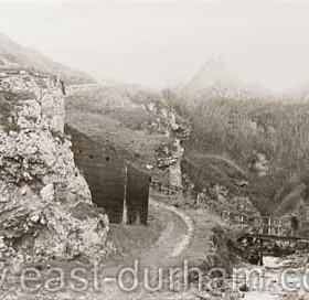Lime kilns in Hawthorn Dene c 1900 or earlier.