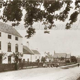 Hawthorn c 1900, former Quaker Schoolhouse at left of frame, church at right.
