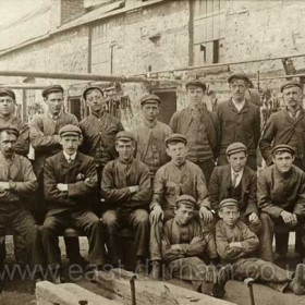 Fitters at South Hetton Colliery on 18th July 1905.