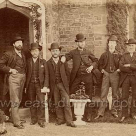 Sunderland Water Rate Collectors, August 1886, outside of Gatehouse, Humbledon.