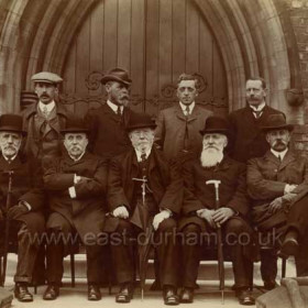 Sunderland Water Board R H Gaynor, J W Sewell, A B E Blackburn, G B Gibbs, S Richardson, J H Rennoldson, R H Gaynor, R A Bartram, W F Vint. There are two men here with same name, this is as hand written on back of  print.