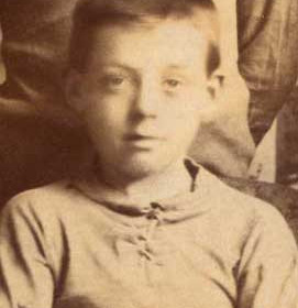 J Lloyd, player for New Seaham Boys 1908-09. Photograph 1909