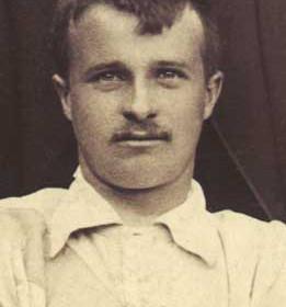 T MAVIN, player with Seaham Villa AFC. Photograph 1899