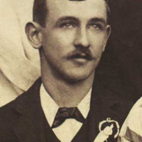 D MEAD, secretary of Seaham Villa AFC. Photograph 1899