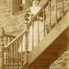Sally Tate, later Robson aged about 18 c 1907. Cook in service at Christ Church Vicarage. Her only free time was a Sunday afternoon when she would be off to the  meeting places of the time, Byrons Walk, North Road and Dene House Road which was known as Lovers Lane, this name persisted into the 1950s and 60s.