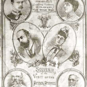 Souvenir pamphlet marking the visit of the Prince and Princess of Wales to Seaham Harbour on 1st November 1890.