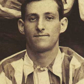 G BARKER, player with Seaham Villa AFC. Photograph 1899