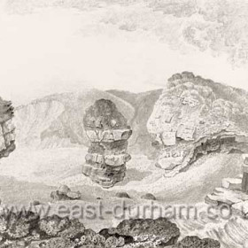 Pencil drawing by Robert Macreth for Lord Londonderry in 1823 of the natural cove which a few years later became the North Dock.