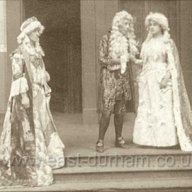 L to R Mrs F W Armstrong, Mr R J Brownlee, Miss Isabel Ayre. The Gondoliers, Seaham Harbour Amateur Operatic Society 1913. Performed in the Drill Hall