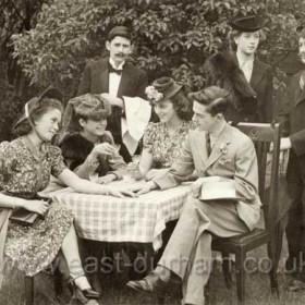 Standing L to R Bryan Trotter, Betty Davidson, Alan Conn. Sitting L to R Joyce Dobson, Margaret Wilson, Margaret Wright, Cyril Watson.