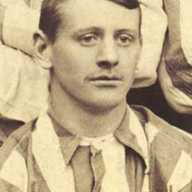 C PROCTOR, player with Seaham Villa AFC. Photograph 1899