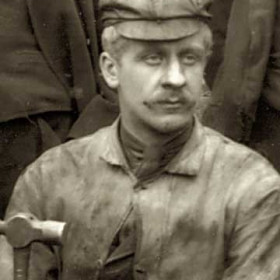 N PURVIS, tradesman at Seaham Colliery. P/graph 1890. Prob a fitter.