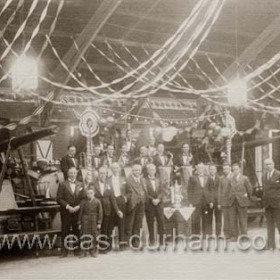 The Coronation Ball at the Drill Hall, Seaham, May 12 1937. Note the FA Cup at centre only days after Sunderland won it for the first time.