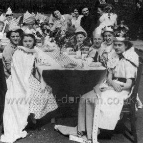 Coronation celebrations, 1953. Street party Stavordale St, Dawdon