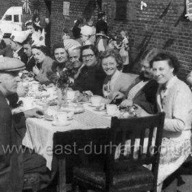 Coronation celebrations, 1953. Street party in Stavordale St, Dawdon