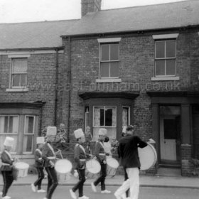 Jazz band in Marlborough Street on the day of Seaham Civic Show, Sep 7 1968