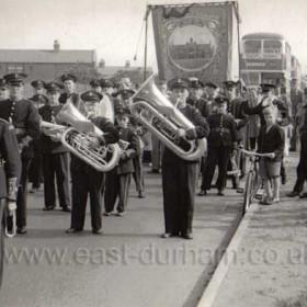Seaham banner entering Durham City before 1956.