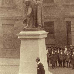 Unveiling of the statue of  the 6th Marquis of Londonderry 1852-1915 by his son.