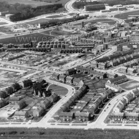 Peterlee Town Centre (built in the mid to late 50s?) at the top centre of the picture. Info Keith Davidson Photograph from Stafford Linsley
