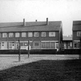 Peterlee c1950. Yoden Road shops near the Royal Arms. Info from Keith Davidson Photograph from Stafford Linsley