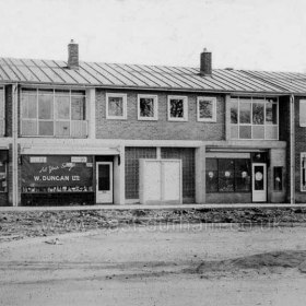 Eden Hill Road shops, Peterlee c1950. Info Keith Davidson Photograph from Stafford Linsley