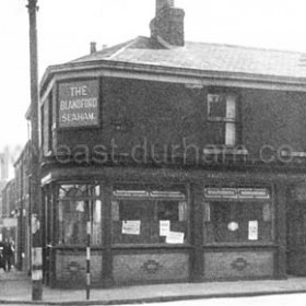 The Blandford at the junction of Blandford Place and South Railway St  c 1950