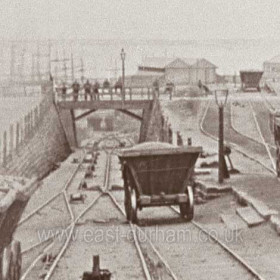 Detail from RY005A, showing underpass to dock newly opened in 1870.
