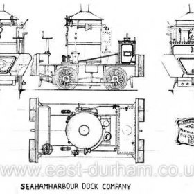 Plan of Dock Company 'Coffee Pot' No.16. Built by Head Wrightson in 1870 this was the first vertical boiler engine to come to Seaham, it is shown brand new in the 1870 photograph of the incline at the dock top. (RY 005)
