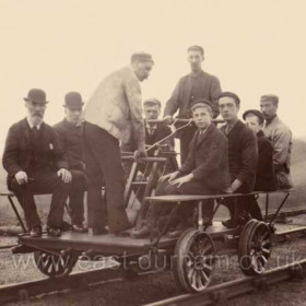 Londonderry Railway 1894. Hand car? Railway hand cart?