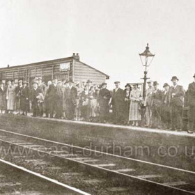 South-bound platform at Seaham Colliery Station 1930s?