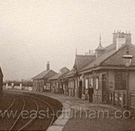 Looking noirth to Seaham Station, Station Hotel behind c 1905.