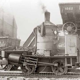 Loco 17 built in 1873 at work in Seaham Dock until 1962.