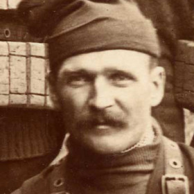 """Crewman of the lifeboat """"Skynner"""", photograph 1895.  Cousin of G Scott"""