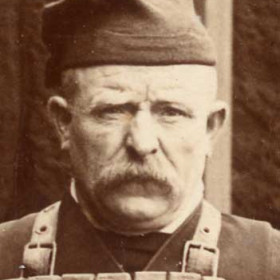 "Crewman of the lifeboat ""Skynner"", photograph 1895. Cousin of G Scott (Jun)"