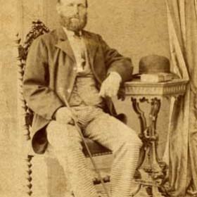 "Capt GEORGE ROBSON, barque ""John Charles"" Shields c1870s"