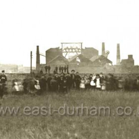 Early photograph of Seaham Colliery, date not known. Production begun 1853/54, closed 1992.