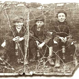 Pit lads at Seaham, names and date not known.