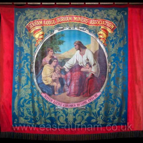 Seaham Colliery Banner currently hanging in Christ Church, New Seaham. Photograph 2007.