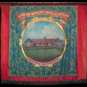 Seaham Colliery Banner currently hanking in Christ Church, New Seaham. Photograph 2007.