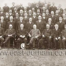 Seaham Colliery Officials, Aug 1912.