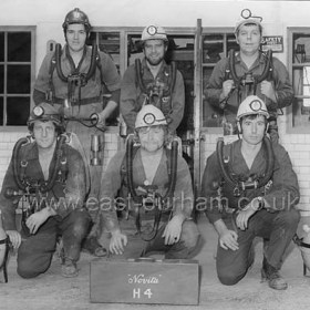End of initial training. Houghton  Mine Rescue Service 1976. Terry Edney back left.