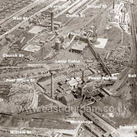 Seaham Colliery from the west in 1928.