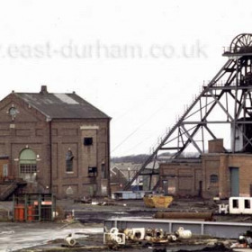 "Seaham Colliery, ""The Nack"" shortly before demolition around 1985. Photograph Jim Prior"