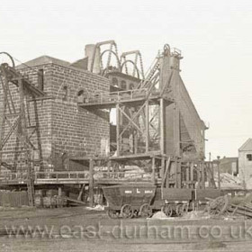 Seaham Colliery Low Pit in the early 1900's. A Londonderry colliery, sinking began in 1849 and first coal was probably drawn in 1853 or 54. Closed in 1992 and demolished in 1994.