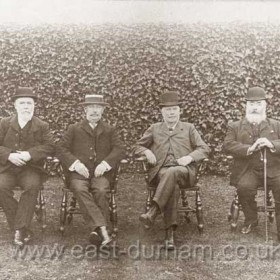 Officials at Seaham Colliery who survived the 1880 explosion and were still employed in 1912