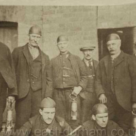 An early shot of officials at Seaham Colliery, date not known.