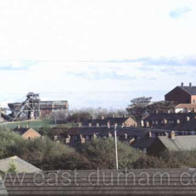 Seaham Colliery photographed from Seaton Village