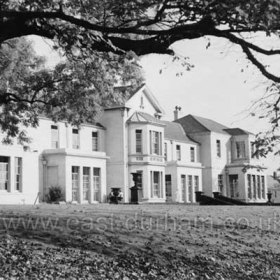 Seaham Hall Hospital in the 1950's. Loaned to the military from 1915 until 1919 as a hospital, eventually in 1927 it was donated to Durham County Council for use as a Sanatorium for women and children, opening in 1928.  It closed as a hospital in 1978 to become first a hotel and then in 1988 a nursing home until 1995. Now a world class hotel. Lord Londonderry leased Seaham Hall to Durham County Council in 1927 for use as a sanatorium. In 1932, the two pavilions, nurses' home and an operating theatre were added. Major surgery for pulmonary tuberculosis was begun in 1953. General chest surgery was started at Seaham in 1959, when tuberculosis was declining. The first heart operation was performed in February, 1960; hypothermic surgery followed In 1961, and when open heart surgery was introduced in 1964 the ultimate objective in the development of Seaham Hall Hospital as a cardio-thoracic unit was reached. Extension of the existing theatre premises, improvements to the ward facilities and the provision of a biochemical laboratory were necessary for the more advanced techniques of open heart surgery. This project was completed in 1964. The hospital, within easy reach of the Regional Centre in Newcastle, was well situated for cardiac surgery. Set in clean surroundings and exempt from the cross-infection of a general hospital, Seaham was singularly free from the sepsis so disastrous to cardiac surgery patients. The staff, both medical and nursing, were indebted to the Cardiac Surgery Unit of the Post Graduate Medical School of London whose help in the establishment of this Unit was been inestimable.